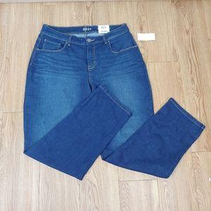 NWT Style & Co Cropped Boyfriend Jeans Size 8